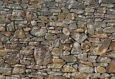 "Stone Wall Mural Wallpaper 12' 1"" x 8' 4"""