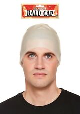 Latex Fake Bald Head Skinhead Wig Cap Clown Mens Ladies Fancy Dress Unisex