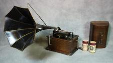 Edison Standard Phonograph Mit Galgen und Oktogonal Trichter