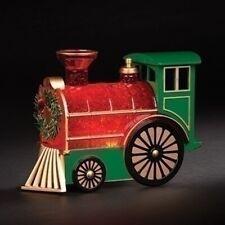 Roman Led Swirl Train Engine w/Wreath #132031 Nib