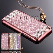 TPU Handy Tasche für Samsung iPhone Hülle Schutz Slim Strass Bling Glitzer Case