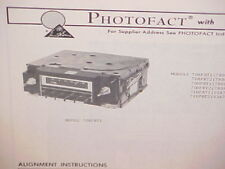 1977 GM BUICK CHEVROLET GMC TRUCK PONTIAC ASTRE 8-TRACK/AM RADIO SERVICE MANUAL