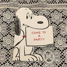 Vintage Greeting Card Peanuts Snoopy Dog Party Invite