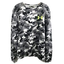 Men's Under Armour Camouflage Sweatshirt Size Medium Gray Cotton