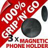 3x Universal RALLAS Soporte para coche imán Montura para móvil smartphone mp3