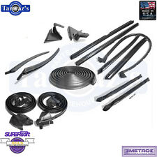 71-75 GM B Body Weatherstrip Seal Kit 2 Door Convertible 14 Pieces Metro New