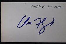 Cliff Floyd Expos Marlins Mets Autographed Signed 3x5 Index Card 16L