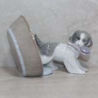 Lladro Nao Figurine 1590 MIB Puppy Playtime