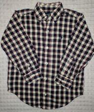 POLO Ralph Lauren Boys Cotton Multi Colored Plaid Oxford Shirt Sz 5