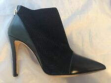 NEW Emporio Armani Black Leather Point-Toe Ankle Boot, Women Size 36 (6 US) $675