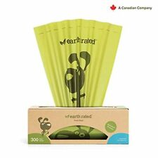 Earth Rated Poop Bags Dog Waste Pickup 300 Bag Roll Unscented Yard Grass Poo