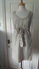 COS Silk Cotton Blend Sand Shift Dress Size 10/36 *VGC*
