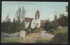 Postcard PASADENA California/CA  Church of the Angels w/Clock Tower view 1907