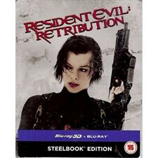 Resident Evil Retribution 3d & 2d Blu Ray Steelbook and