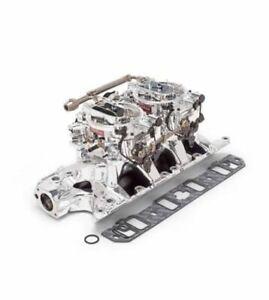 ED20354 Edelbrock Dual Quad Manifold & Carburetor Kit Ford 289 302 Windsor