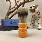 BETA Shaving Brush Vintage Butterscotch Bakelite Handle in Original Box