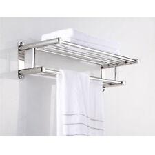 Wandhandtuchhalter Handtuchhalter Handtuchablage Badetuchstange mit 4 Haken