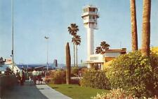 SKY HARBOR AIRPORT Phoenix, Arizona TWA Plane c1950s Vintage Postcard