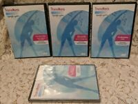 Lot of 4 TRANSITIONS LIFESTYLE SYSTEM Weight Loss DVDs 1 is NEW! Diet Health Fat