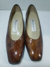 ETIENNE AIGNER Tortoise Shell Patterned Patent Leather Heels Pumps Shoes  6M