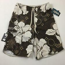 mens 28 BILLABONG board shorts swim brown white NWT floral hawaiian