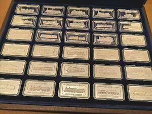 Sterling Silver Rainhill Trials Locomotive Ingots 30  x 1 oz Boxed Set