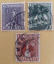 Switzerland 1917 Pro Juventute Stamps Used