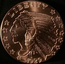 Incuse Indian Style 5 oz Copper Bullion Round Uncirculated