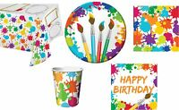 Art Inspired Painting Crayon Birthday Party Napkins Plates Cups Tablecover