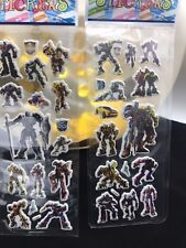 Kids Transformer sticker sheets buy 5 get 5 free stickers party lolly bags dec