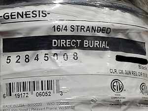Honeywell Genesis 5284 16/4C Audacious Oxygen Free OFC Direct Burial Cable/50ft