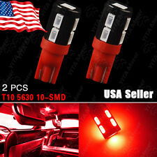 2X Red T10906 High Power Side Wedge5630 10SMDLED Backup Light