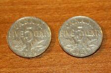 Canada 5  Cents 1925 1926 Near