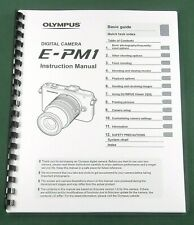 Olympus E-PM1 Instruction Manual: 129 Pages & Protective Covers!