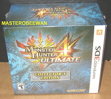Monster Hunter 4 Ultimate Collector's Edition New Sealed (Nintendo 3DS, 2015)