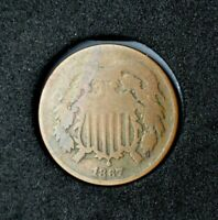 1867 Two Cent Piece~AG~About Good~Better Date~!
