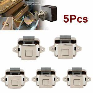 5x Push Button Catch Lock Caravan Camper Doorlock Cabinet Drawer Latch Knob