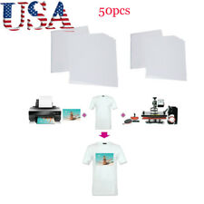 50sheets A4 Iron on Heat Transfer Paper Inkjet Light Cotton Fabric T-shirt Print