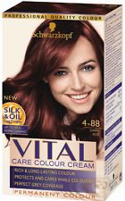 Schwarzkopf Vital Colours 4-88 Dark Red Permanent Hair Colouring Dye x1