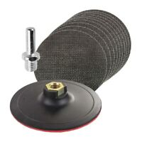 10 x Mixed Hook & Loop 125mm Mesh Sanding Discs with Backing Pad & Drill Adaptor