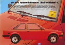 FORD ESCORT MK 3 1.6 automatico per conducente disabile 1983 ORIGINALE vendita opuscolo