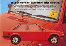 Ford Escort Mk 3 1.6 Automatic for Disabled Driver 1983 Original Sales Brochure