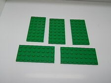 Lego Lot of 5 Green 4 x 8 Plates