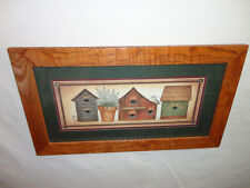 Home Interiors ''Country Birdhouses '' Picture Gorgeous 13'' x 23'' . Sale