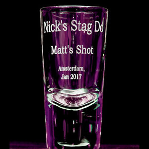 Personalised Engraved Shot Glass Wedding Stag Hen Do 18th 21st Birthday Gift