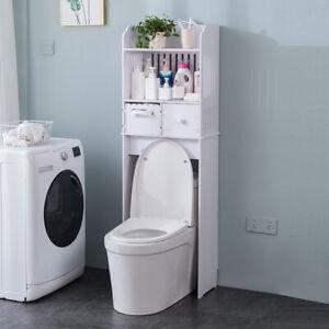 Bathroom Shelf Over Toilet Storage Rack Toiletries Stand Unit Organizer Drawer
