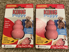 2 PINK KONG Puppy X-SMALL Rubber Teething Dog Treat Chew Toy EXTRA SMALL KP4