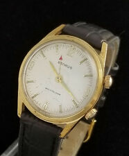 VINTAGE BENRUS WRISTALARM MENS MANUAL WIND ALARM WRIST WATCH - AS 1475