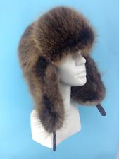 Beaver Fur Full Ushanka Hat Adjustable