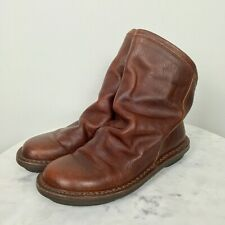 Trippen Women's Slouch Leather Boots Ankle NWOB 37 US 7M Solid Brown